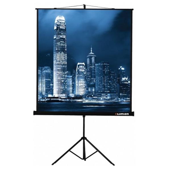 LMV-100104 Экран на штативе Lumien Master View 213×213 см Matte White FiberGlass черн. кайма по периметру, устойчивый штатив 1:1